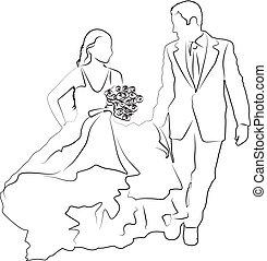 Paar Wedding