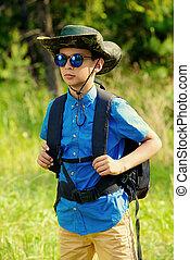 brave scout boy