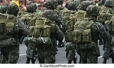 Soldiers in a military parade