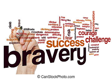 Bravery word cloud concept