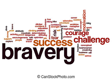 Bravery word cloud concept
