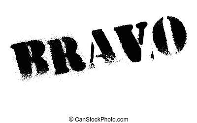 Bravo rubber stamp