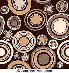 Brawn abstract seamless pattern with round shapes
