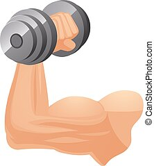 Brawny arm with dumbbell - Brawny Caucasian arm with...