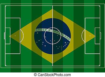 brazília, 2014, futball játék, mező
