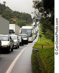 brazília, dzsem, forgalom, autóút