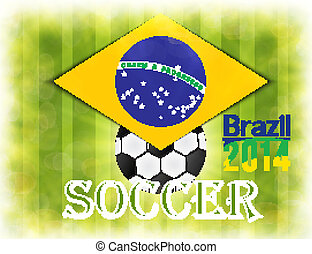 brazília, flag., focilabda, világbajnokság, labdarúgás, 2014.