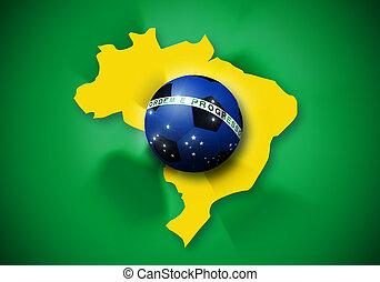 brazília, focilabda, lobogó