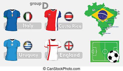brazília, futball, bajnokság, csoport