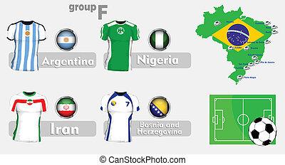 brazília, futball, csoport, bajnokság