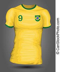 brazília, futball, mez