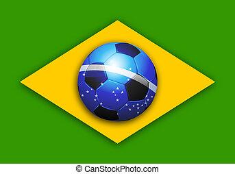 brazília, futball, világbajnokság, lobogó