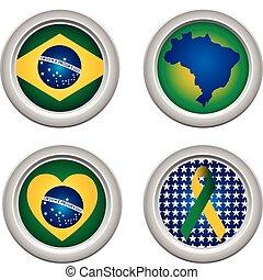 brazília, gombok