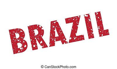 brazília, grunge, bélyeg, ábra, vektor, style.