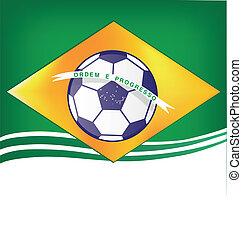 brazília, háttér, futball, 2014