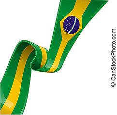 brazília, szalag, lobogó