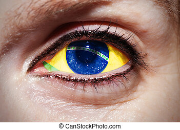 brazília, szem csésze, lobogó, világ, 2014