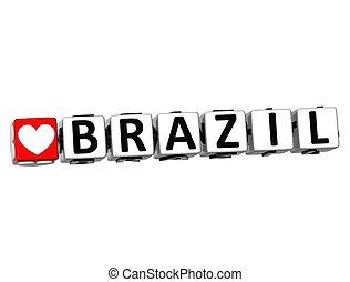 brazília, szeret, szöveg, gombol, itt, csattant, tömb, 3