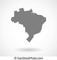 brazília, térkép, ábra
