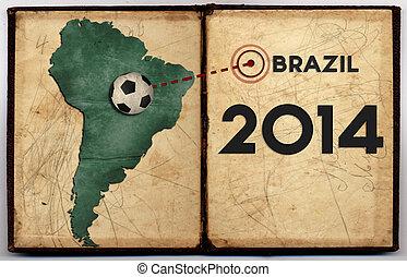 brazília, térkép, 2014, világbajnokság