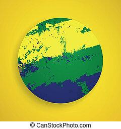 brazília, vektor, háttér