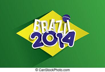 brazília, világ, kreatív, 2014, csésze
