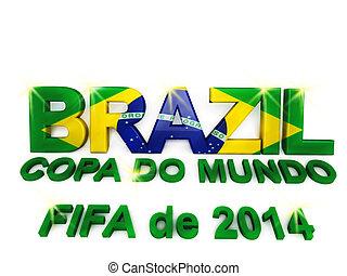 brazília, világ, labdarúgás, csésze, 2014