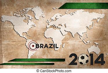 brazília, világ, tapéta, csésze