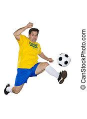 brazíliai, futball játékos, ugrás