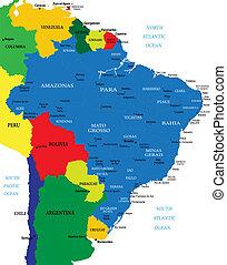 brazílie, mapa