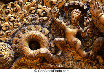 Brazen relief, sculpture of Shiva