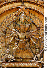 Brazen sculpture of god Shiva