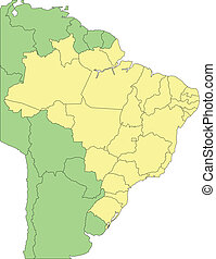 Brazi with Administrative Districts and Surrounding ...