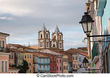 brazil., サルバドール, 歴史的, 中心, pelourinho, bahia, 都市