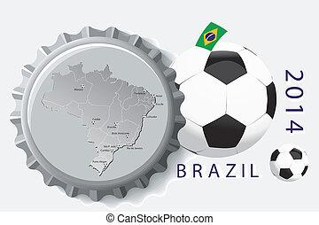 Brazil 2014 - Football illustration