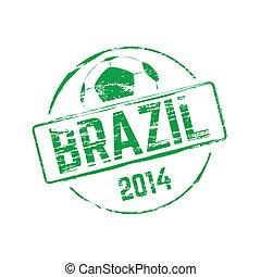 Brazil 2014 grunge rubber stamp