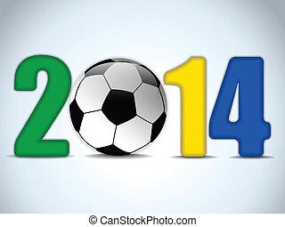 Brazil 2014 Soccer with Brazilian Flag