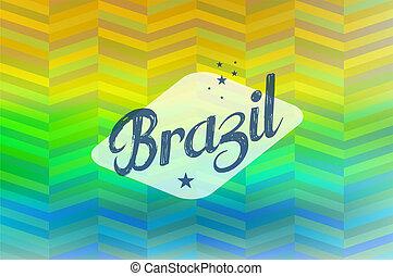 Brazil 2014 vintage background