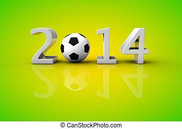 Brazil 2014 world football soccer cup concept