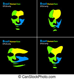 Brazil abstract portrait, easy all