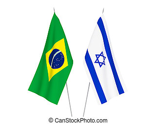 Brazil and Israel flags