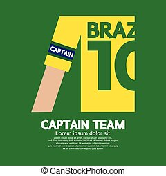 Brazil Captain Soccer/Football Team
