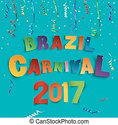 Brazil carnival 2017 background.