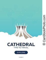 Brazil culture travel agency flat poster  International