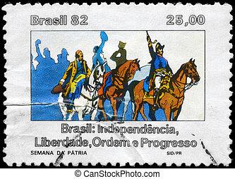 BRAZIL - CIRCA 1982 National Week - BRAZIL - CIRCA 1982: A...