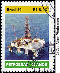 oil platform at sea