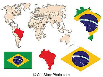 Brazil collection vector