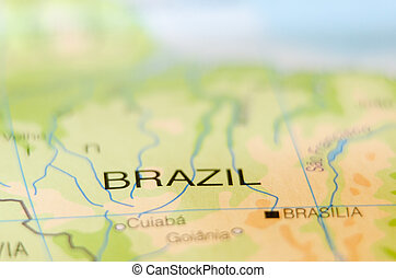 brazil country on map