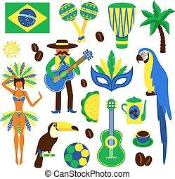 Brazil decorative set