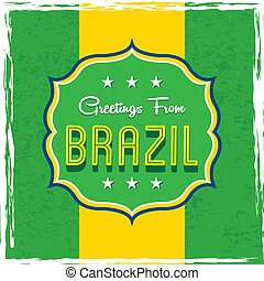 brazil design over flag background vector illustration